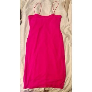 Size Medium Slim Fit Hot Pink Dress